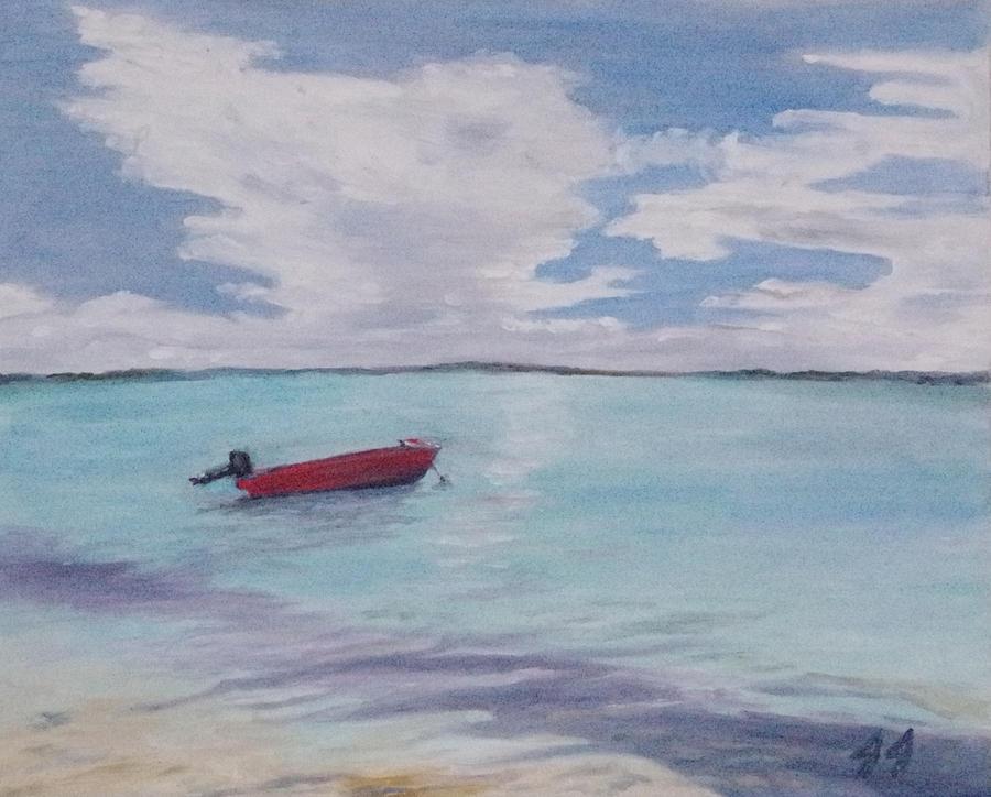 Oil Paint Painting - Little boat by Jaren Johnson