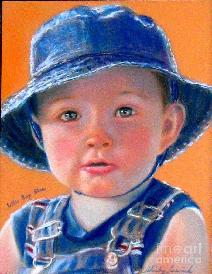 Child Painting - Little Boy Blue by Shirley Leswick