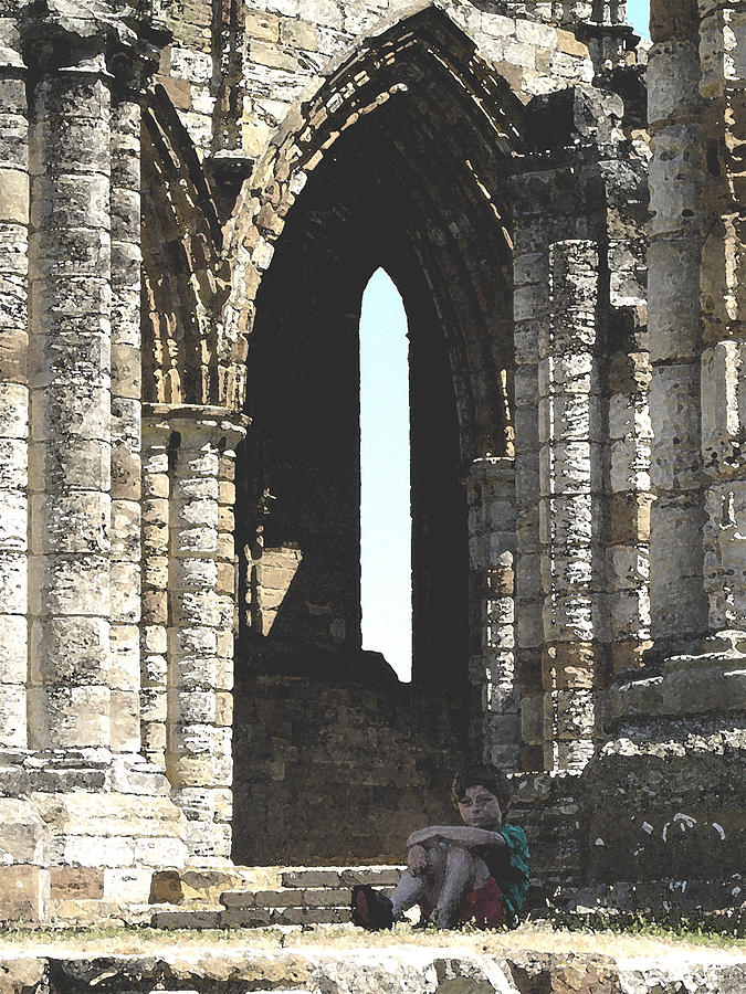 Arch Photograph - Little Boy Under The Arch by Susan Baker