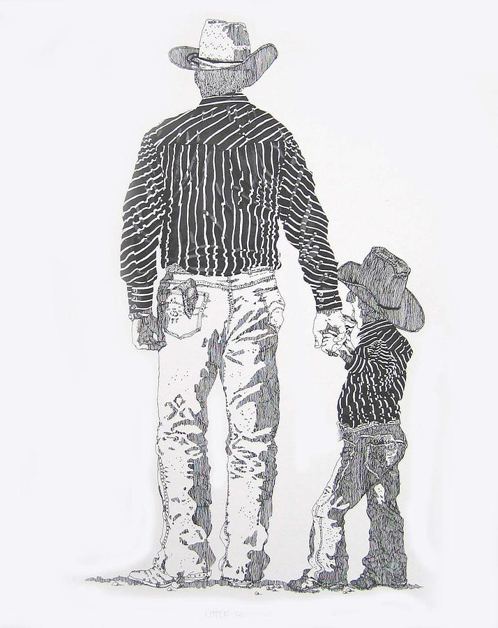 Father & Son Print - Little Britches by Martin Goldman