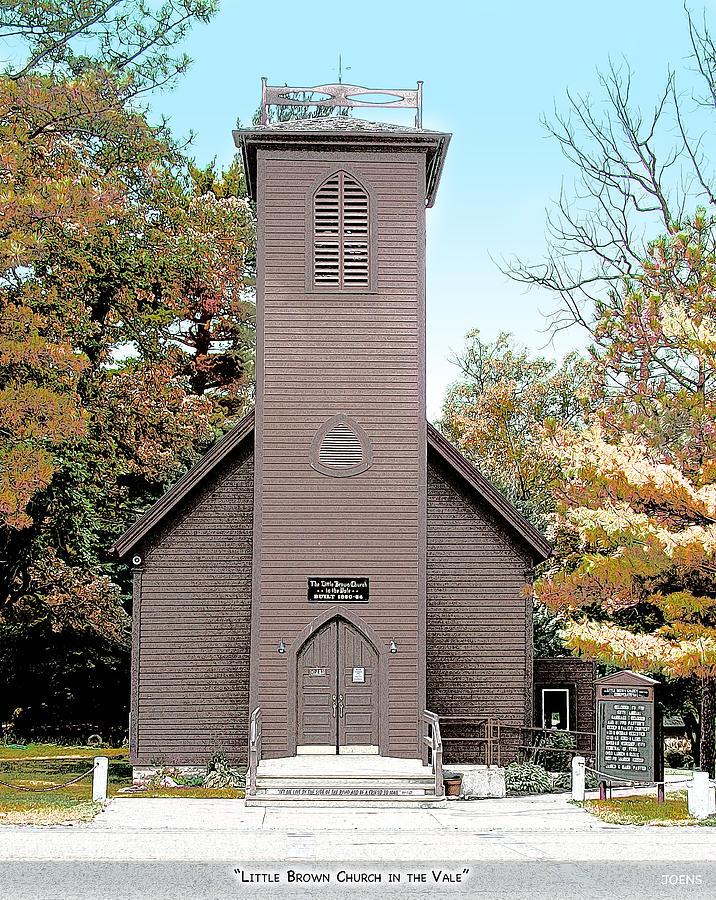 Little Brown Church Mixed Media - Little Brown Church by Greg Joens