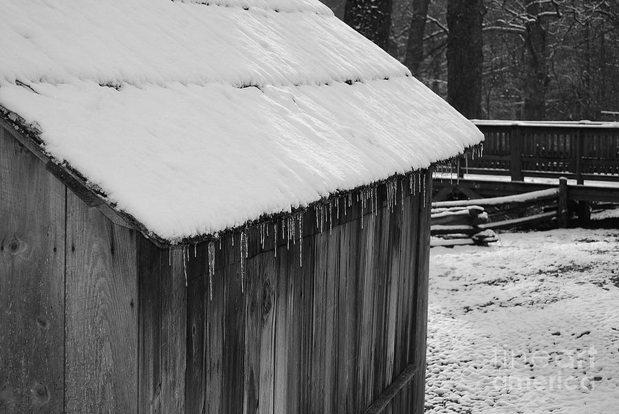 Landscape Photograph - Little Brown Shed by Eric Liller