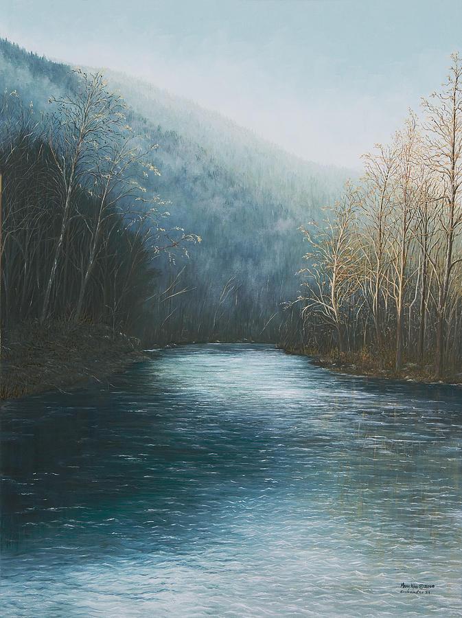 Jasper Painting - Little Buffalo River by Mary Ann King