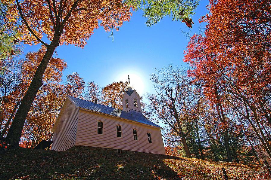 Church Photograph - Little Cataloochee Church by Alan Lenk