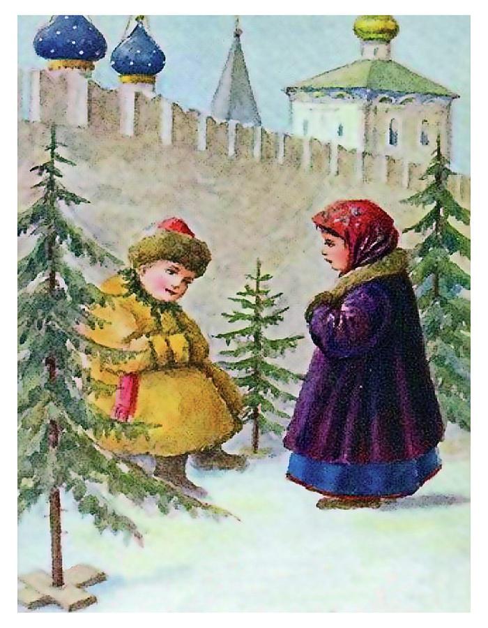 Картинка с рождеством христовым ретро