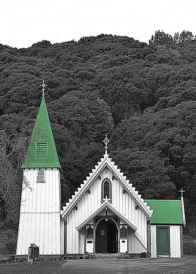 Little Church With The Bright Green Steeple