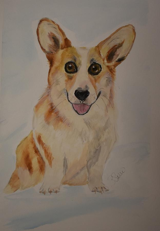 Corgi Painting - Little Corgi by Susan Voidets