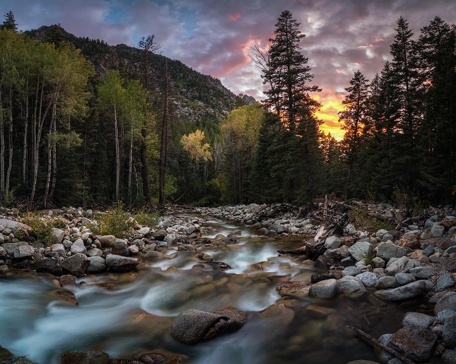 Little Cottonwood Creek Fall Sunset Photograph
