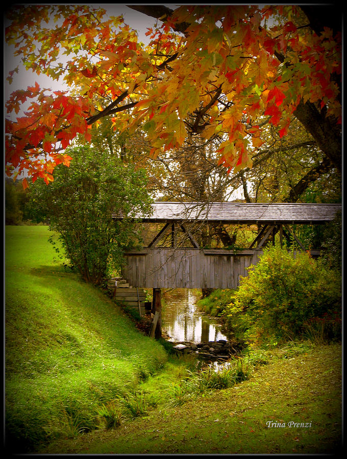 Covered Bridge Photograph - Little Covered Bridge by Trina Prenzi