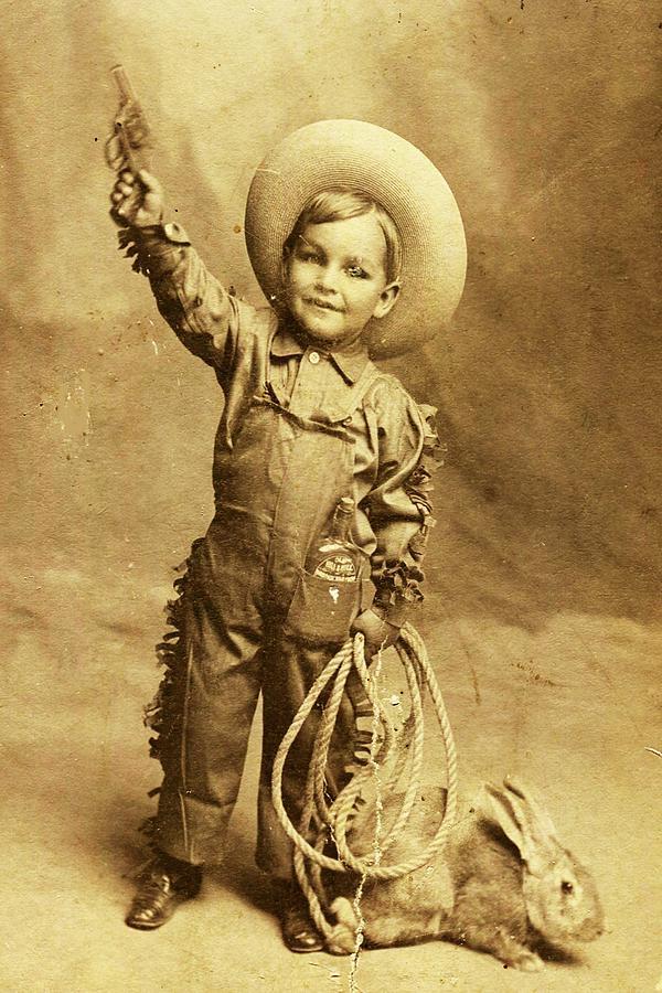 Cowboy Photograph - Little Cowboy  by Beverly Solomon Design