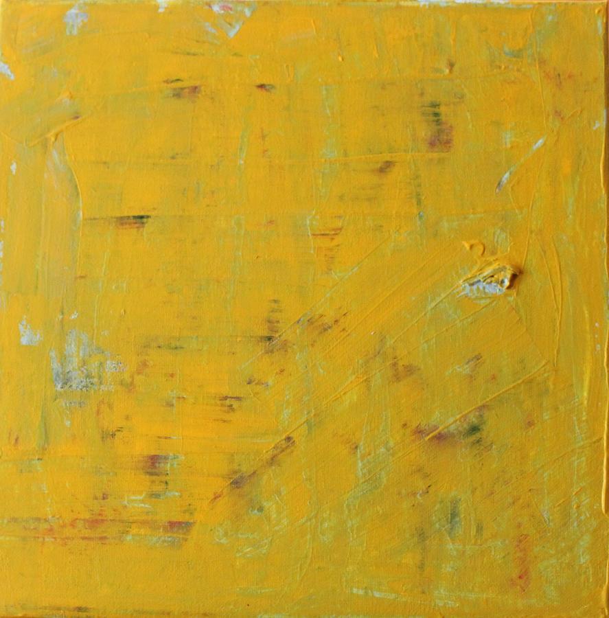 Yellow Painting - Little Dab Will Do Ya by Pam Roth OMara