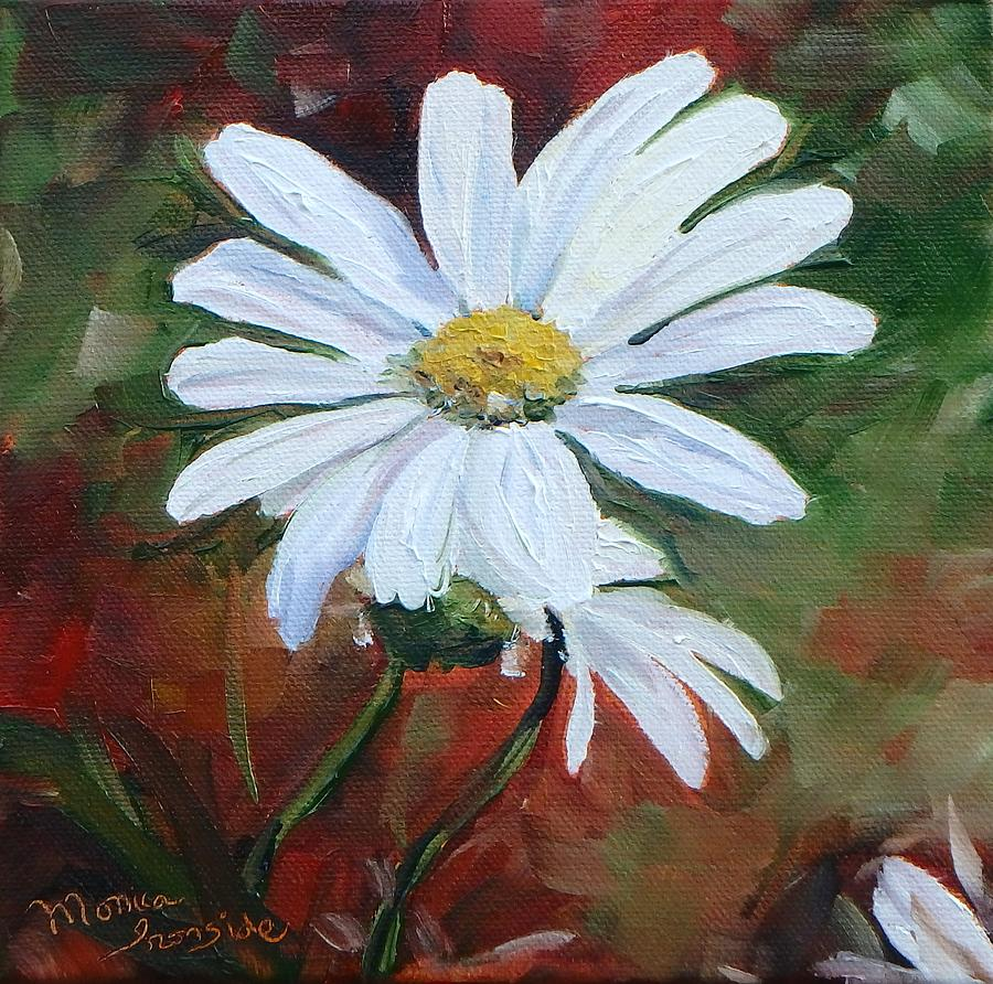 Original Painting - Little Daisy by Monica Ironside