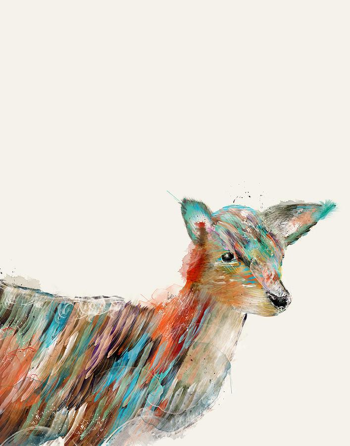 Deer Painting - Little Deer by Bri Buckley