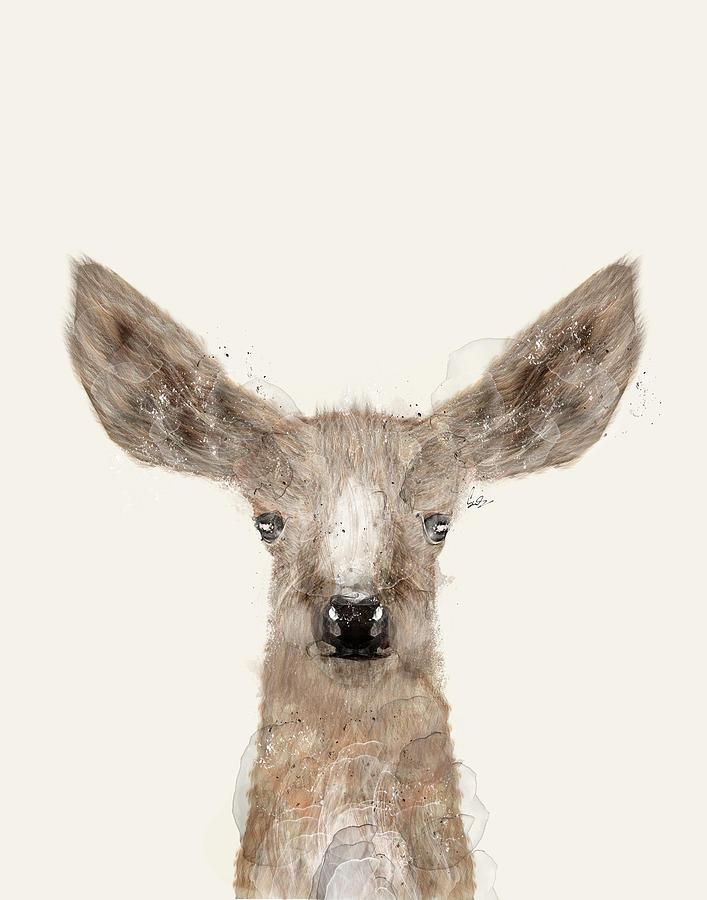 Deer Painting - Little Deer Fawn by Bri Buckley