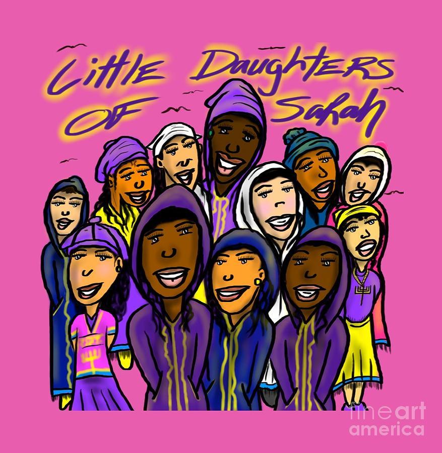 Girls Digital Art - Little DOS by Robert Watson