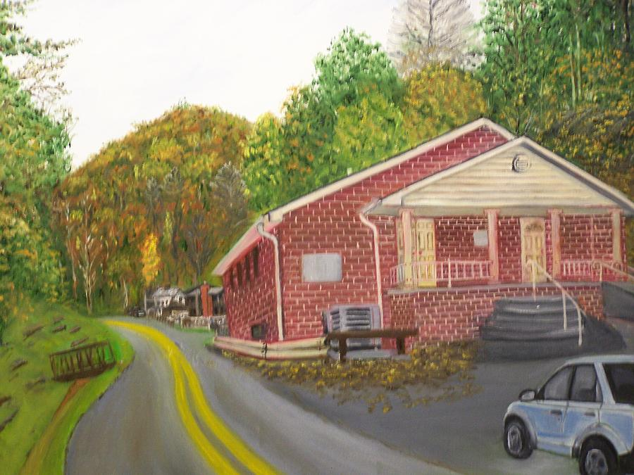 Little Dove Church 1 Painting by Charles Vaughn