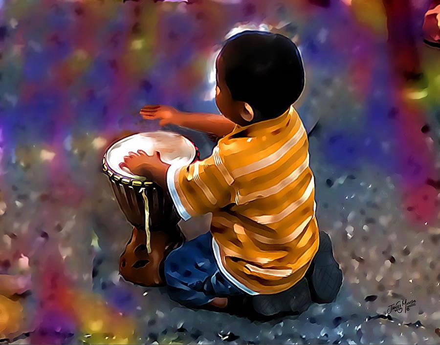 Drums Photograph - Little Drummer Boy by James  Mingo