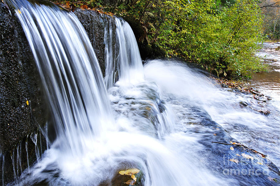 Waterfall Photograph - Little Elbow Waterfall And Williams River by Thomas R Fletcher