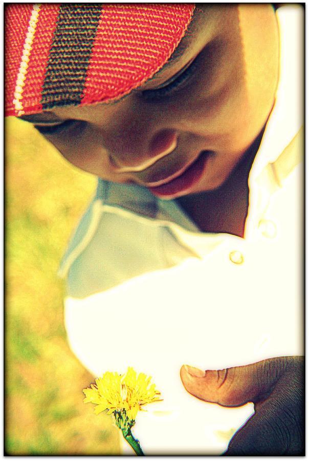 Portrait Photograph - Little Flower Child by Vanessa Reed