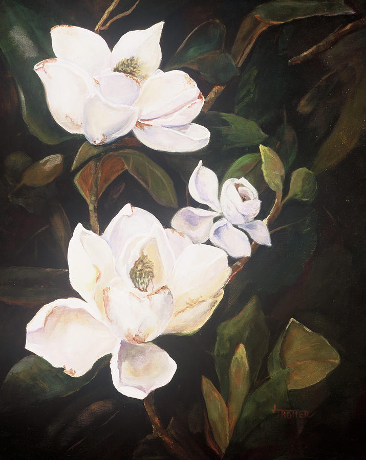 Floral Painting - Little Gems by Jimmie Trotter