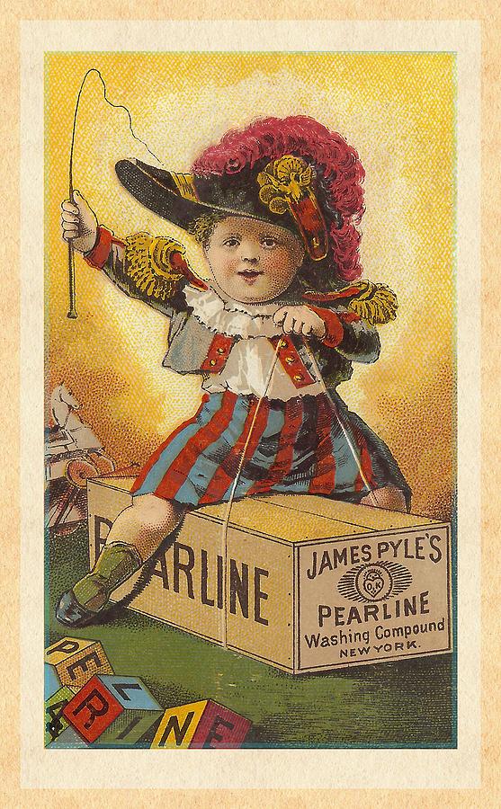Little General Victorian Trade Card Digital Art