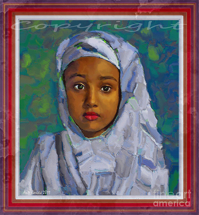 Little girl from Somalia by Ante Barisic