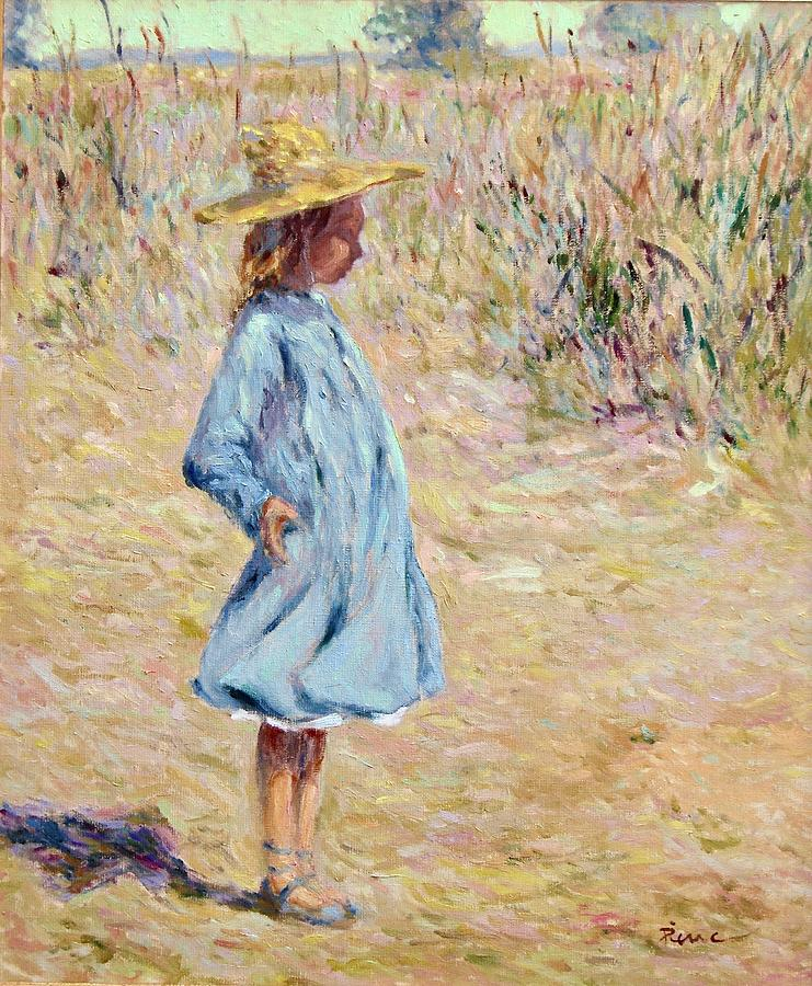 Little Girl with blue dress by Pierre Van Dijk