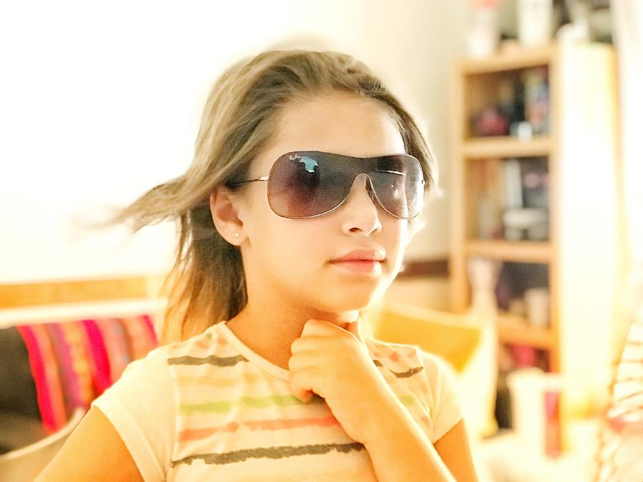 2aaa4af2233e Little Girl With Sunglasses Photograph by Martin Diego Honrado