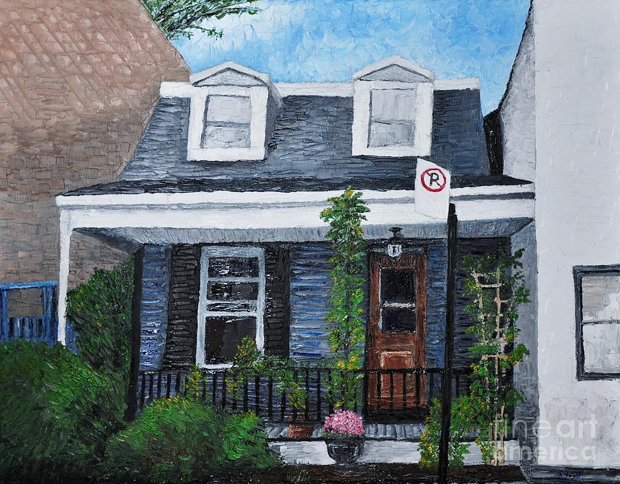 Houses Painting - Little House In The City by Reb Frost