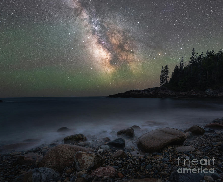 Acadia National Park Photograph - Little Hunters Cove At Night by Michael Ver Sprill