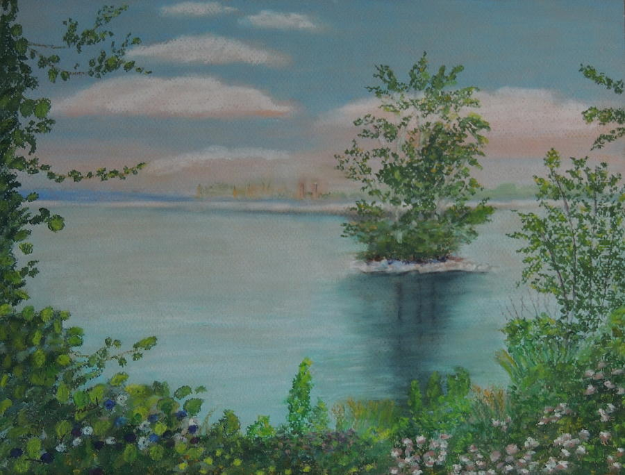 Landscape Pastel - Little Island by Lisa MacDonald