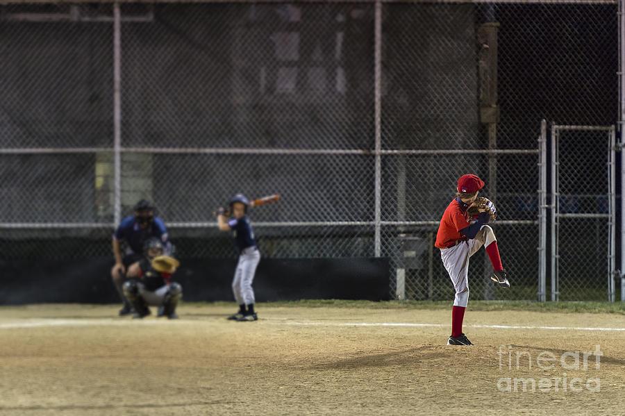 Americana Photograph - Little League Baseball by John Greim
