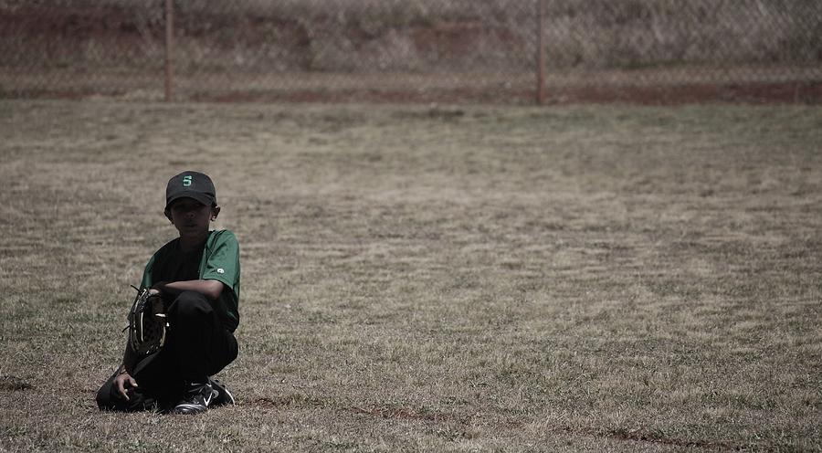 Baseball Photograph - Little League by Lakida Mcnair