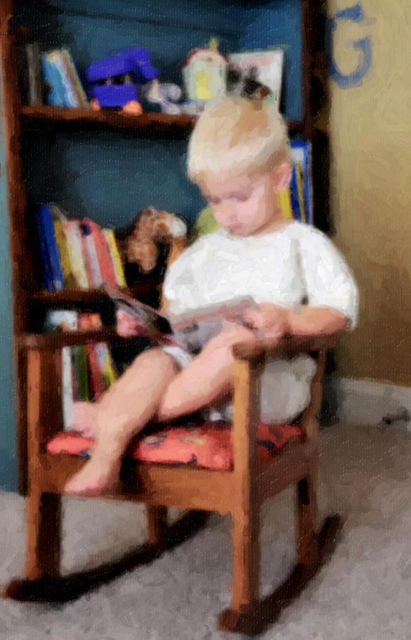Reading Photograph - Little Learner by Lyle  Huisken