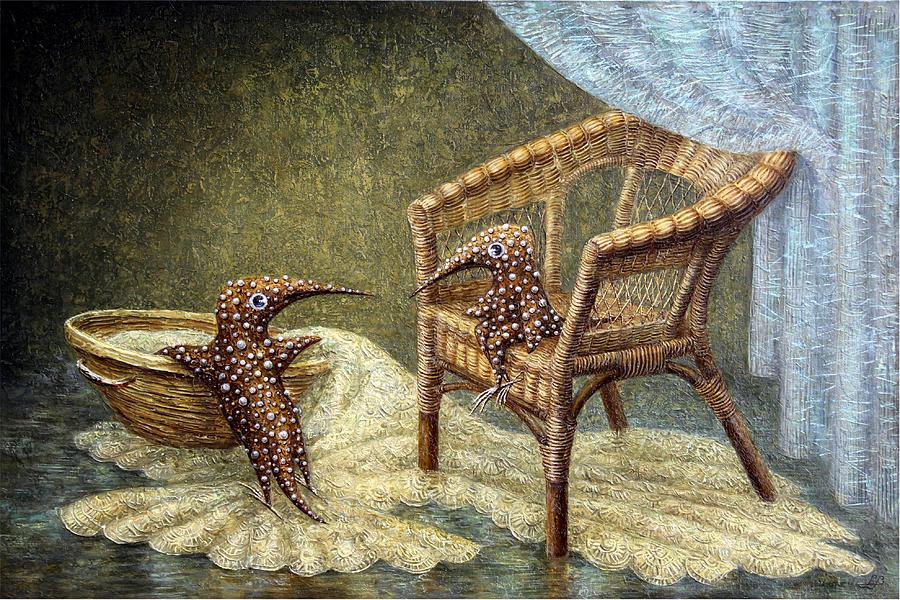 Lounge Painting - Little Love Story by Lolita Bronzini