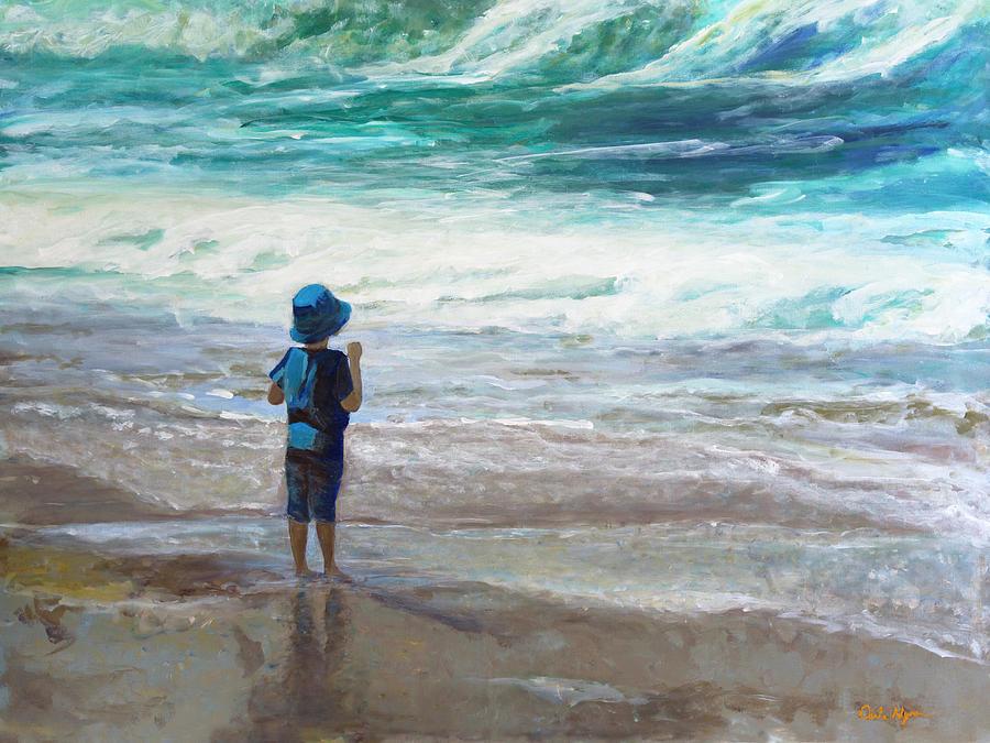 Little man, Big waves by Darla Nyren