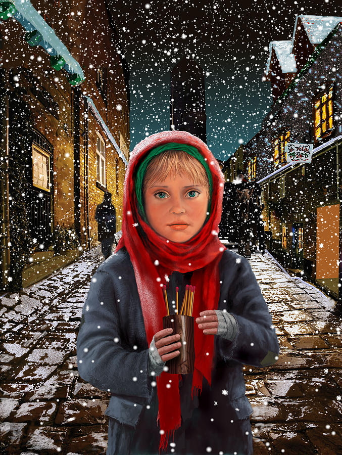 Illustration Painting - Little Match Girl by Richard Ferguson