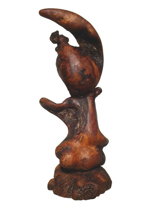 Driftwood Sculptures Sculpture - Little Me - Redwood Abstract  by Daryl Stokes