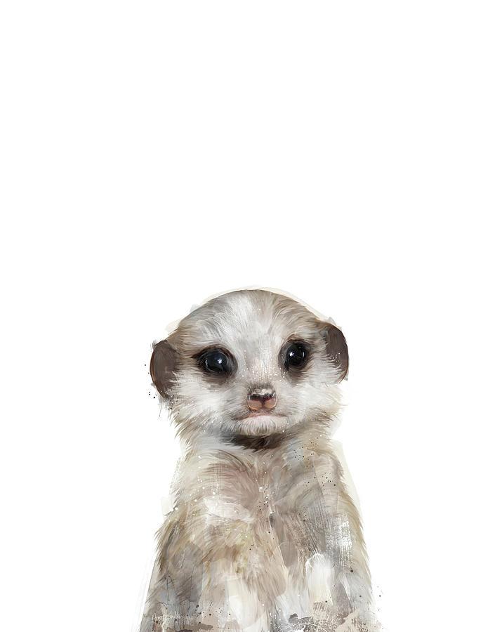 Meerkat Painting - Little Meerkat by Amy Hamilton