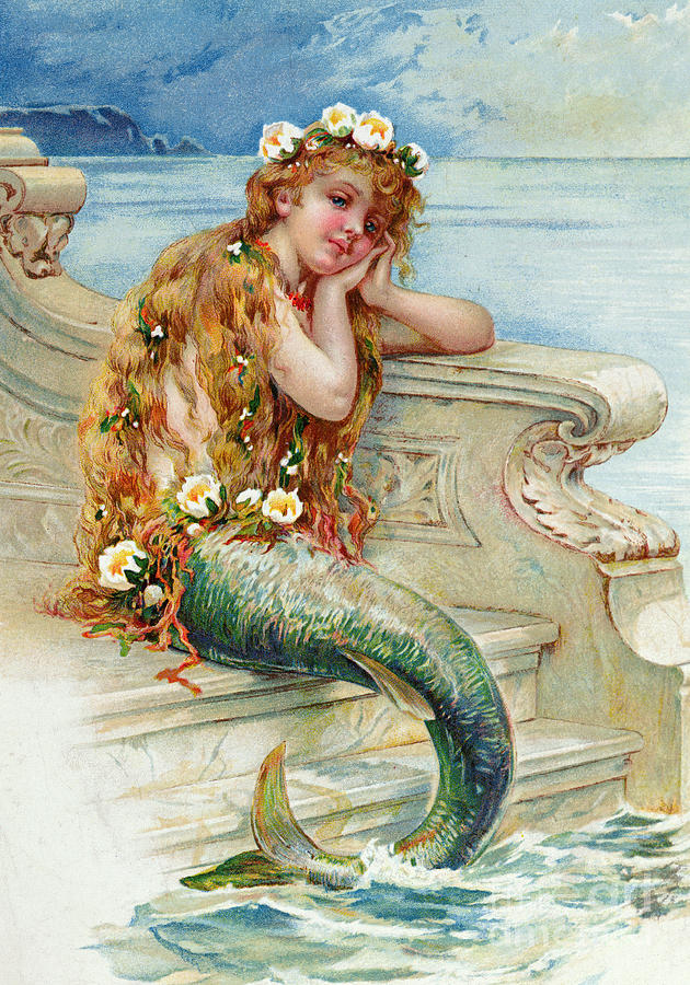 Little Mermaid Painting by E S Hardy