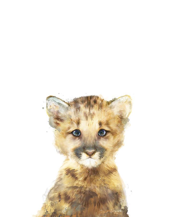 Mountain Lion Painting - Little Mountain Lion by Amy Hamilton
