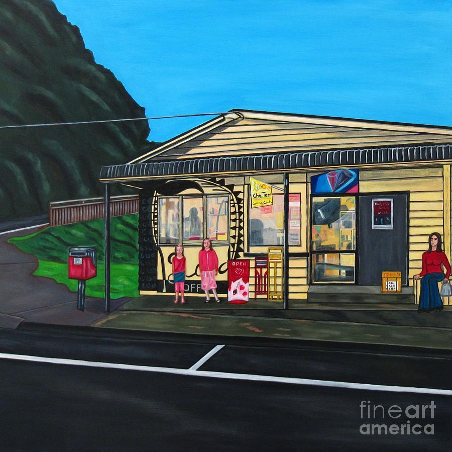 Buildings Painting - Little Oneroa Store by Sandra Marie Adams