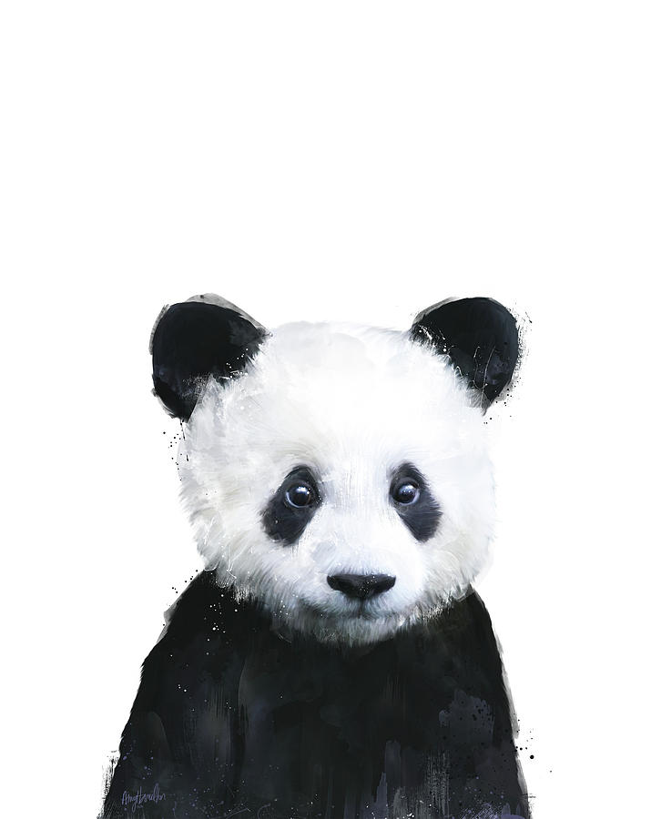 Panda Painting - Little Panda by Amy Hamilton
