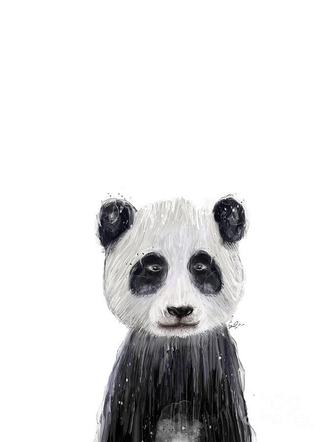 Panda Painting - Little Panda by Bri Buckley