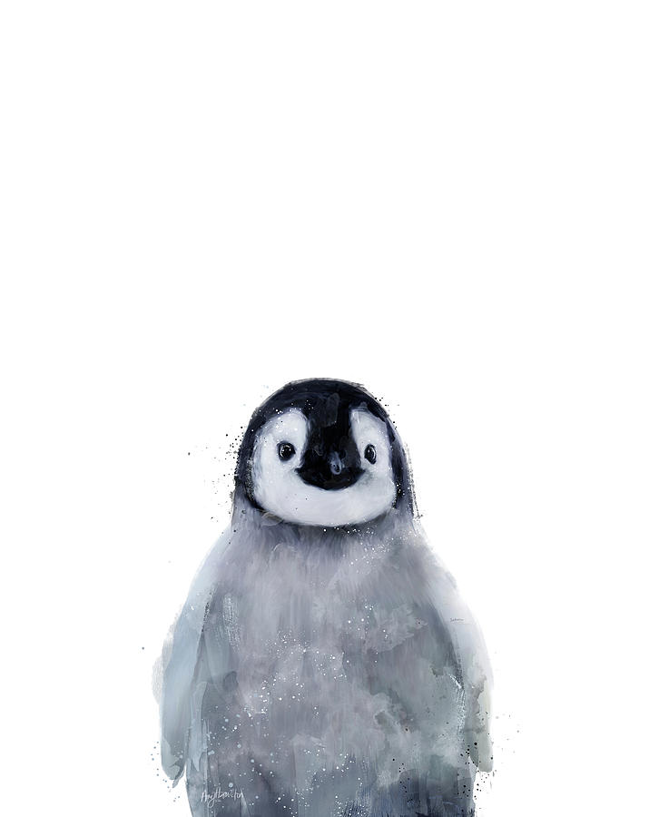 Penguin Mixed Media - Little Penguin by Amy Hamilton