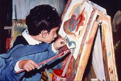 Little Picasso Painting by Parvin Shere