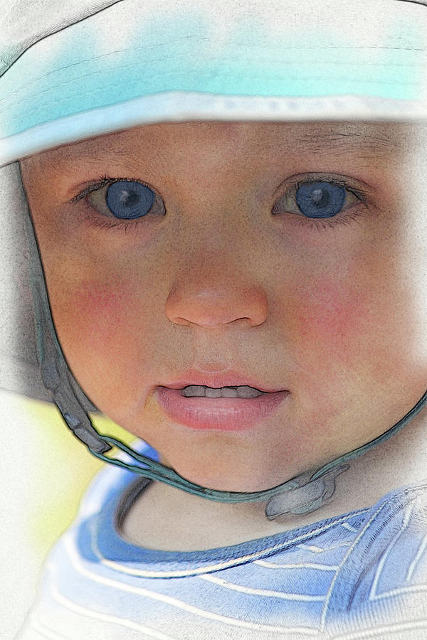 Portrait Digital Art - Little Pilgrim Myles Alden At 1yo by William Sargent