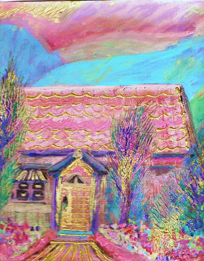 Pink Painting - Little Pink House by Anne-Elizabeth Whiteway
