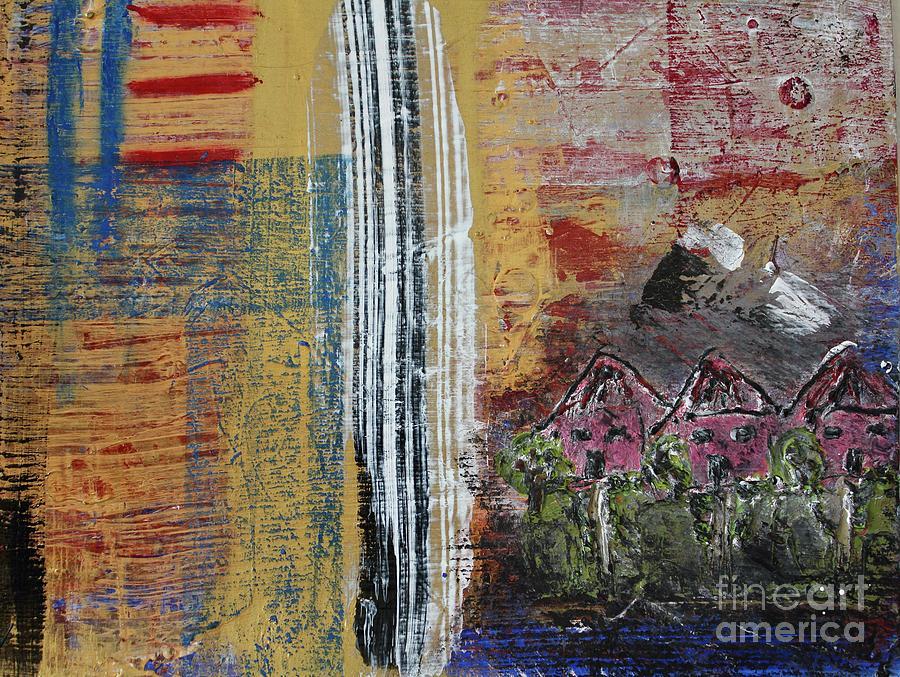 John Cougar Mellencamp Painting - Little Pink Houses by Kim Nelson