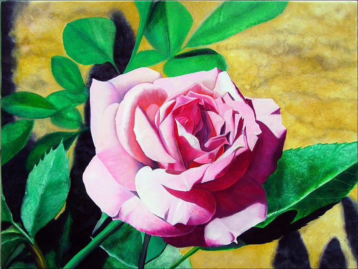 Rose Painting - Little Pink Rose by Matthew Bates